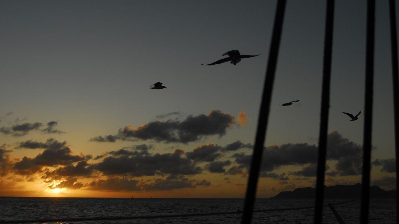 Coucher de soleil sur l'Anse Caritan