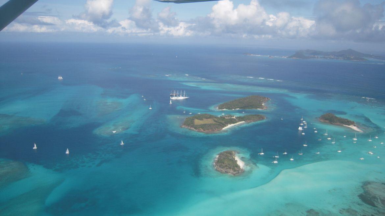 Les ilots des Tobago Cays