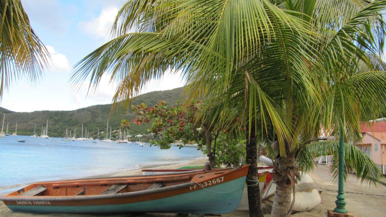 Le gommier sur la plage de Grande Anses d'Arlet