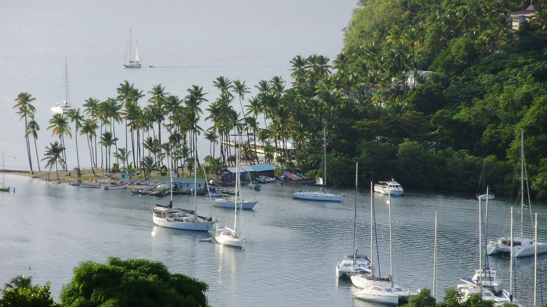Baie de Marigot à Sainte Lucie