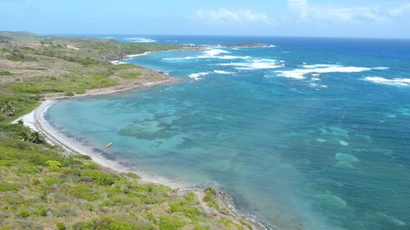 The windward coast of Martinique