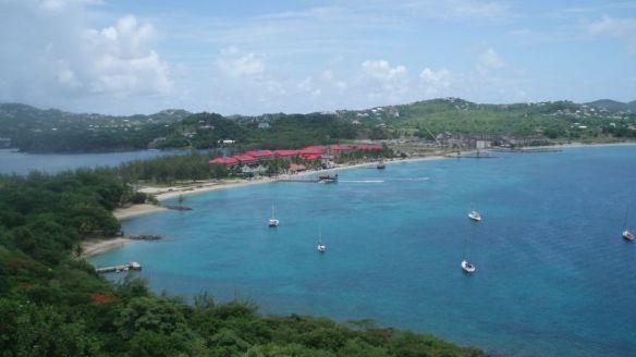 Baie de Rodney à Sainte Lucie