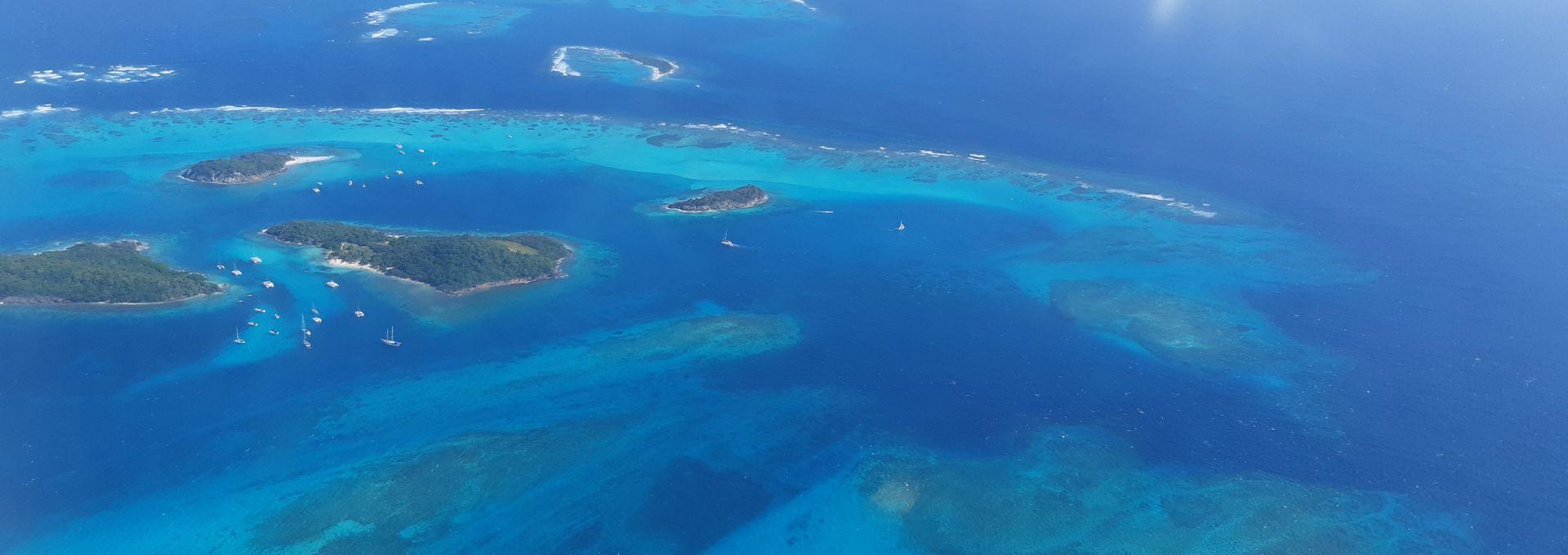 Tobago Cays vus du ciel