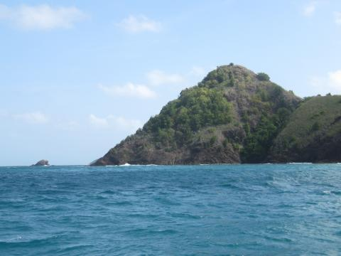 Pigeon Island, à l'entrée de Rodney bay, sur l'île de Sainte Lucie