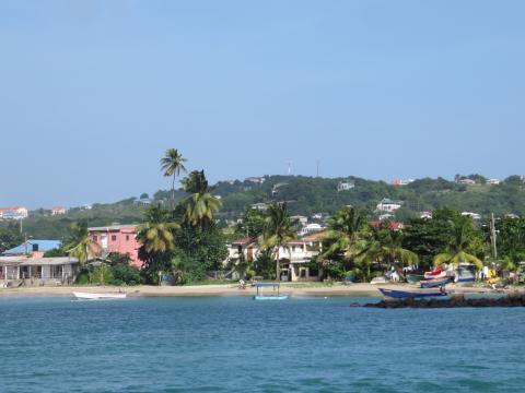 La plage de Rodney Bay, à Sainte Lucie