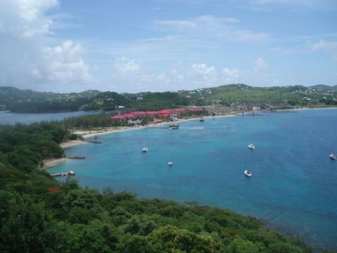 Rodney Bay à Sainte Lucie