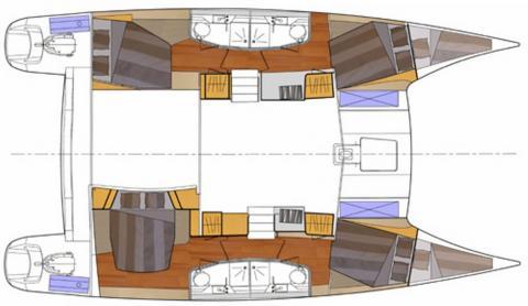 Orana 44: Boat layout