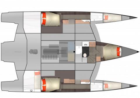 NEEL 51 : lower boat layout