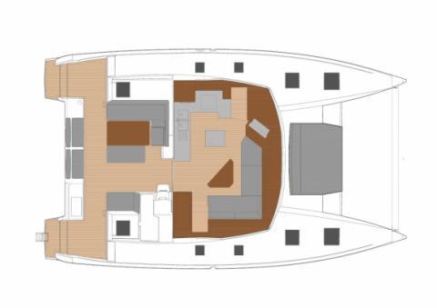 Plan d'aménagement cockpit et carré du Saona