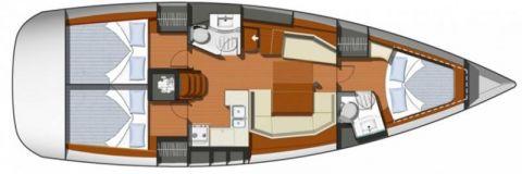 Plan of sun odyssey 42I